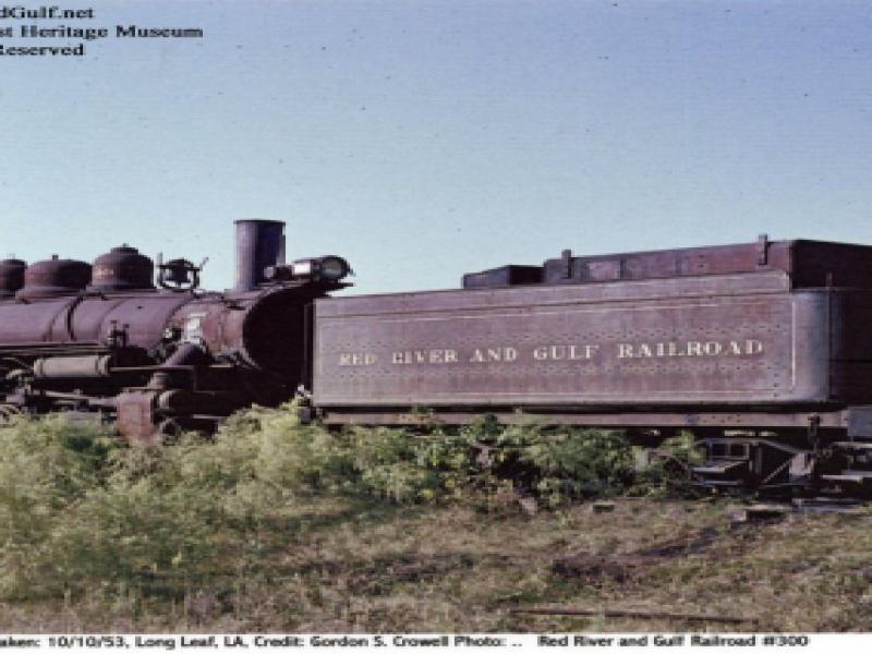 Red River & Gulf Railroad #300 - 1953